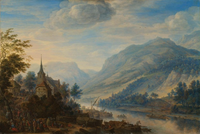 View-of-the-Rhine-at-Reineck.-1654-Herman-Saftleven-oil-painting