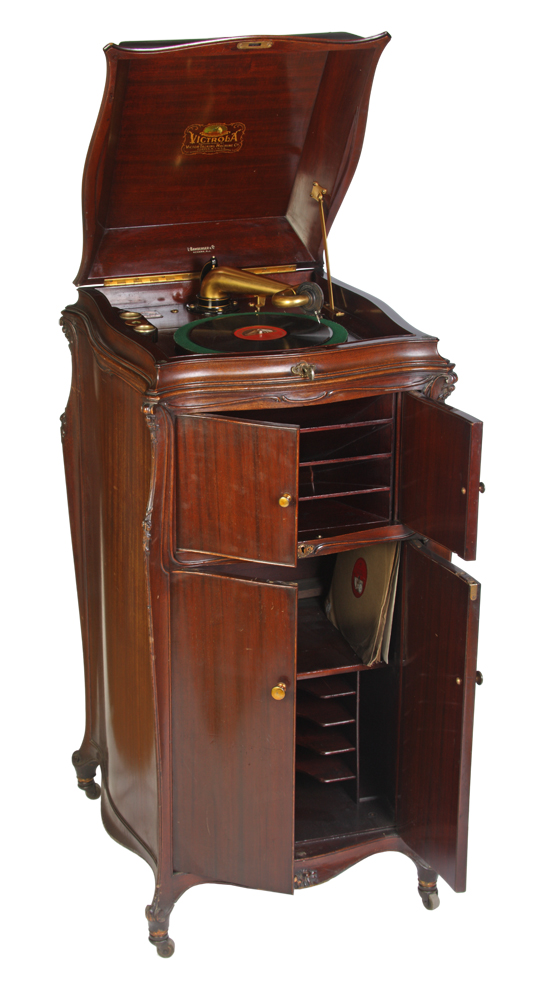 victrola-cabinet-phonograph-with-inside-horn